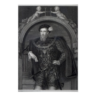 Porträtt av den Henry Howard earlen av Surrey Poster
