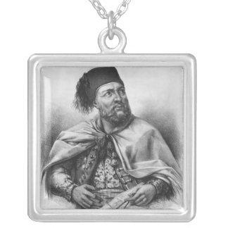 Porträtt av den Ibrahim pashaen, 1840 Silverpläterat Halsband