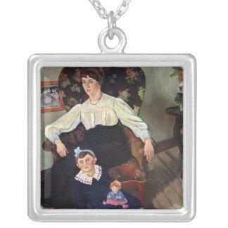 Porträtt av den Marie cocaen och henne Dotter, 191 Silverpläterat Halsband