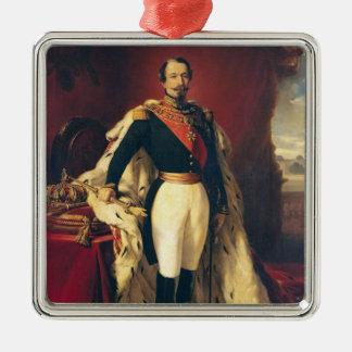 Porträtt av den Napoleon III kejsaren av Julgransprydnad Metall