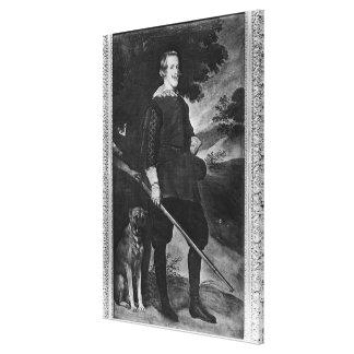 Porträtt av den Philip droppkungen av Spanien någo Canvastryck