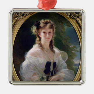 Porträtt av den Sophie Troubetskoy countessen av Julgransprydnad Metall