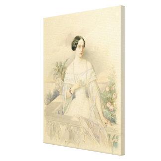 Porträtt av den storslagna hertiginnan Olga Nikola Canvastryck