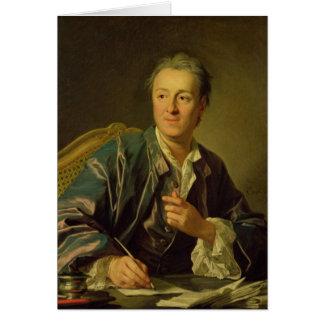Porträtt av Denis Diderot 1767 Hälsningskort