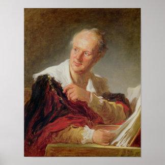 Porträtt av Denis Diderot c.1769 Poster
