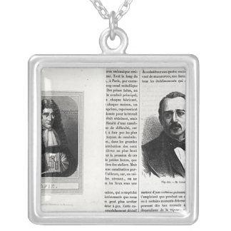 Porträtt av Denis Papin och Etienne Lenoir Silverpläterat Halsband