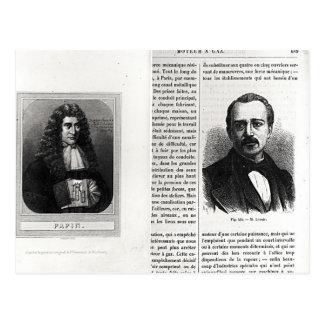 Porträtt av Denis Papin och Etienne Lenoir Vykort