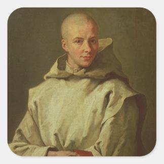 Porträtt av Dom Baudouin du Basset av Gaillon, 171 Fyrkantigt Klistermärke