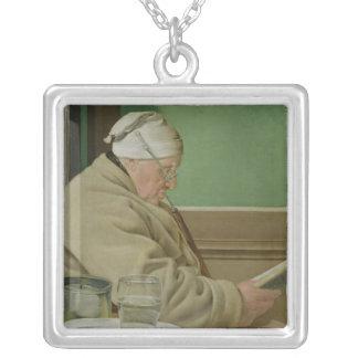Porträtt av domaren mer wilder Jacob, 1819 Silverpläterat Halsband