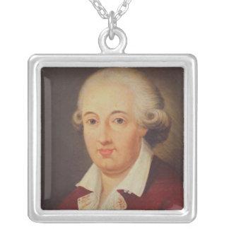 Porträtt av Domenico Cimarosa Silverpläterat Halsband
