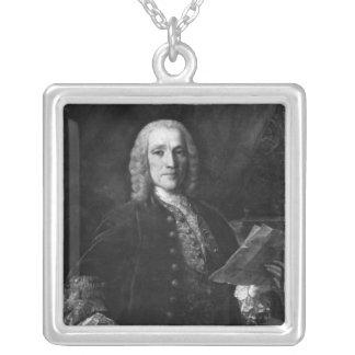 Porträtt av Domenico Scarlatti Silverpläterat Halsband