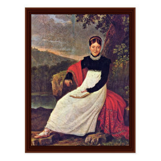 Porträtt av drottningen Caroline Vykort