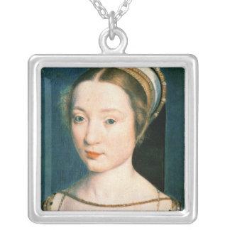 Porträtt av drottningen Claude Silverpläterat Halsband