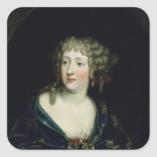 Porträtt av drottningen Marie-Therese av Fyrkantigt Klistermärke
