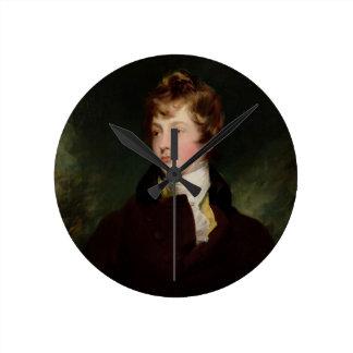Porträtt av Edward Impey (1785-1850), c.1800 (olja Väggklocka