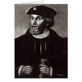 Porträtt av Edward, tredje hertig av Buckingham Hälsningskort