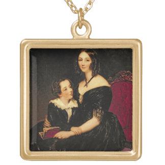 Porträtt av Eliza Boardman och henne son, Robert,  Skräddarsydda Halsband