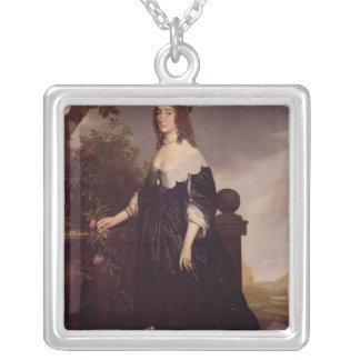 Porträtt av Elizabeth, drottning av Bohemia Silverpläterat Halsband