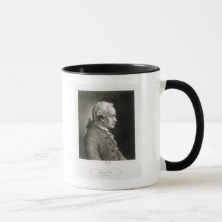 Porträtt av Emmanuel Kant, tysk filosof Mugg
