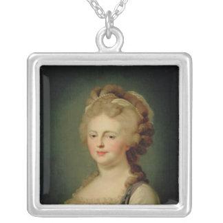 Porträtt av empressen Maria Fyodorovna Silverpläterat Halsband