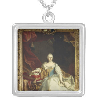 Porträtt av empressen Maria Theresa Silverpläterat Halsband