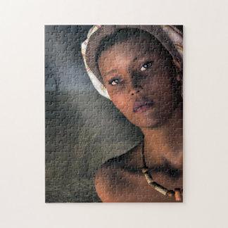 Porträtt av en afrikansk kvinna pussel
