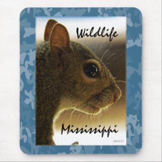 Porträtt av en /Blue för Mississippi gråttekorre b Musmatta