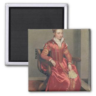 Porträtt av en dam, c.1555-60 magnet