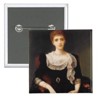 Porträtt av en dam (olja på kanfas) 2 knapp med nål