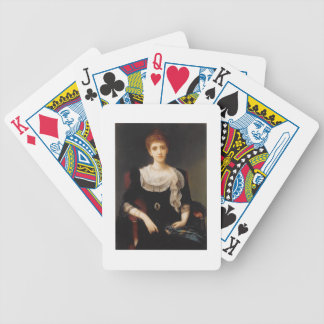 Porträtt av en dam (olja på kanfas) 2 spel kort