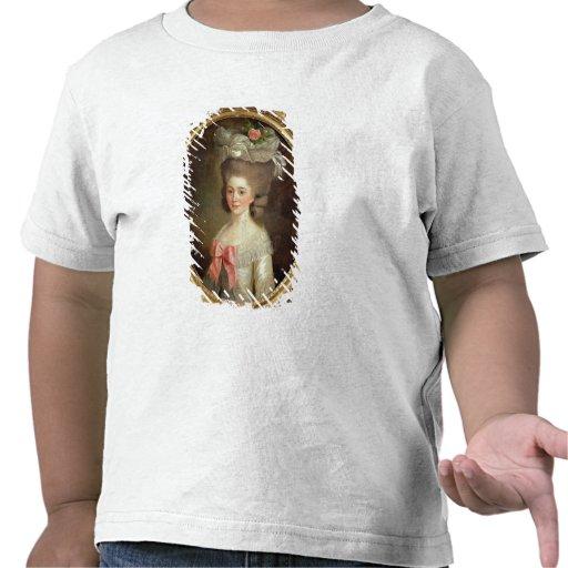 Porträtt av en dam (olja på kanfas) tee shirt