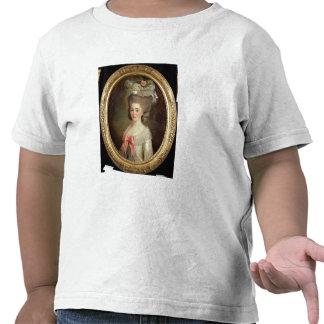 Porträtt av en dam (olja på kanfas) tee shirts