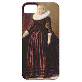 Porträtt av en dam (olja på panel) iPhone 5 Case-Mate skal