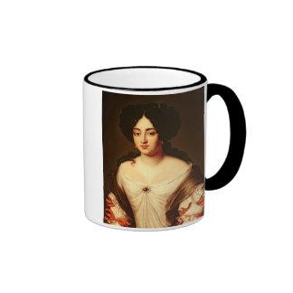Porträtt av en dam, sade att vara Marie-Anne Manci Kaffe Kopp