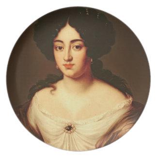 Porträtt av en dam sade att vara Marie-Anne Manci Dinner Plates