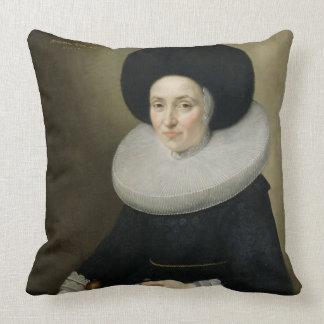 Porträtt av en dam som åldras 47 1647 olja på ka prydnadskuddar