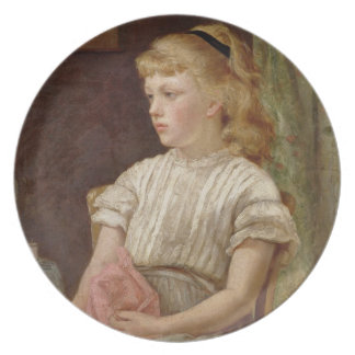 Porträtt av en flicka, 1896 (olja på kanfas) tallrikar