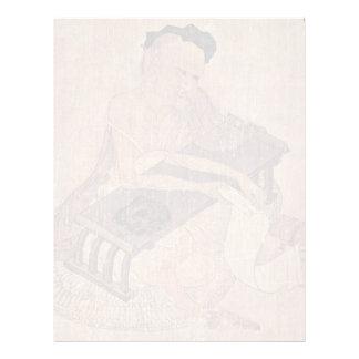 Porträtt av en forskare Fu Sheng av Wang Wei Brevhuvud