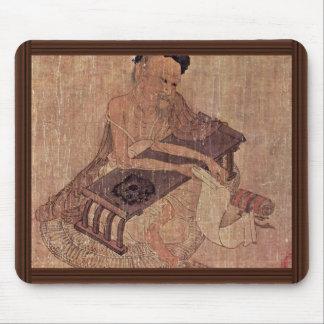 Porträtt av en forskare Fu Sheng av Wang Wei Mus Mattor