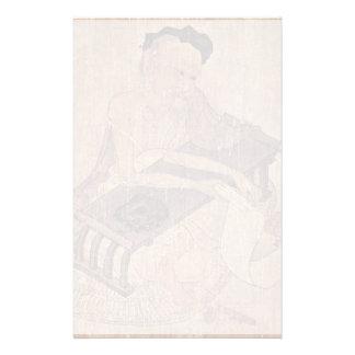 Porträtt av en forskare Fu Sheng av Wang Wei Stationär