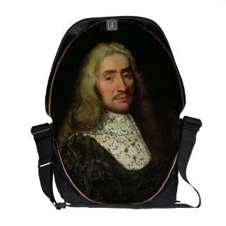 Porträtt av en gentleman (olja på kanfas) kurir väska