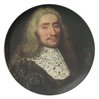 Porträtt av en gentleman (olja på kanfas) tallrik