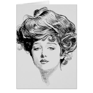 Porträtt av en Gibson Flicka, 1900 OBS Kort