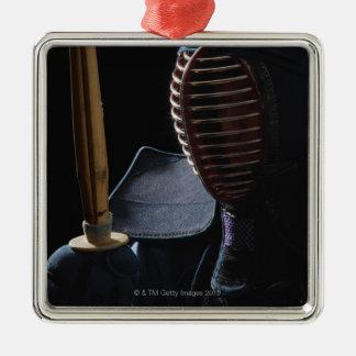 Porträtt av en Kendo fäktare 6 Julgransprydnad Metall