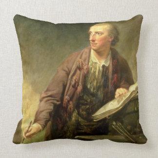 Porträtt av en konstnär som tros traditionellt til prydnadskuddar