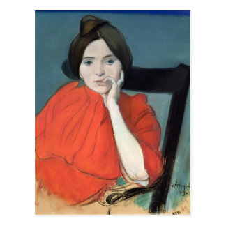 Porträtt av en kvinna, 1890 vykort