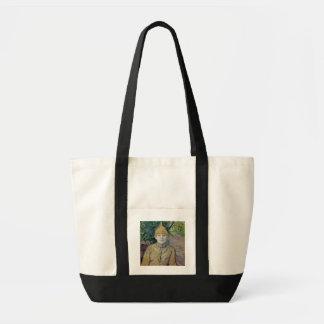 Porträtt av en kvinna, eventuellt den franska dans tote bags