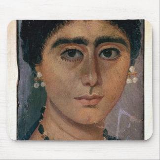 Porträtt av en kvinna, från Fayum, 1st-4th århundr Musmatta
