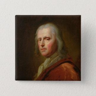 Porträtt av en man 3 standard kanpp fyrkantig 5.1 cm