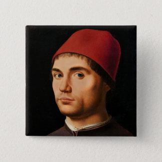 Porträtt av en man, c.1475 standard kanpp fyrkantig 5.1 cm